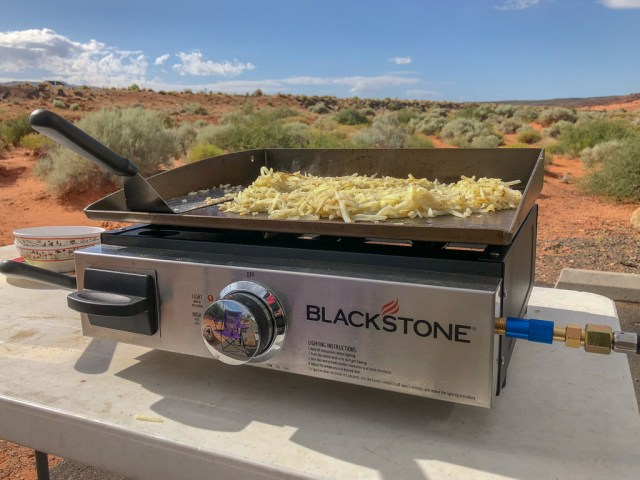 Blackstone griddle cooking hashbrowns