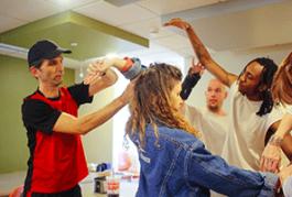 CC student dancers and Braincare participants