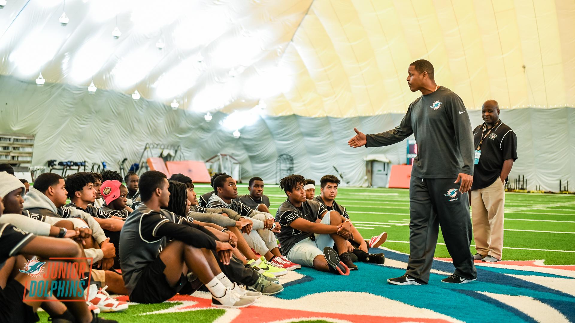 info for c14ec 89e02 Miami Dolphins Youth Programs Ambassador Twan Russell speaks ...