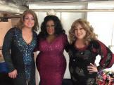 Misty Phoenix, Deja Dellataro and Alexis Stevens at Miss Gay Dayton America 2015 at Masque Night Club (Dayton, Ohio). May 2015.