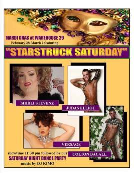 Mardi Gras at Warehouse 29   Warehouse 29 (Greensboro, North Carolina)   February 28, 2014 - March 2, 2014