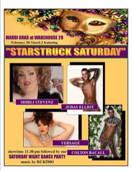 Mardi Gras at Warehouse 29 | Warehouse 29 (Greensboro, North Carolina) | February 28, 2014 - March 2, 2014