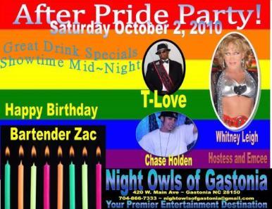 Show Ad   Night Owl Night Club (Gastonia, North Carolina)   10/2/2010