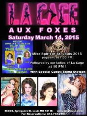 Show Ad   Grey Fox (St. Louis, Missouri)   3/14/2015
