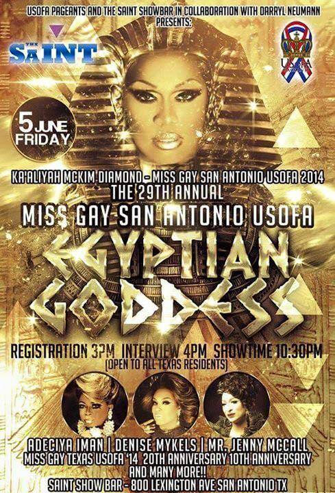 Show Ad | Miss Gay San Antonio USofA | Saint Show Bar (San Antonio, Texas) | 6/5/2015