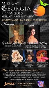 Show Ad | Miss Gay Georgia USofA Pageantry | Jungle (Atlanta, Georgia) | 3/8/2015