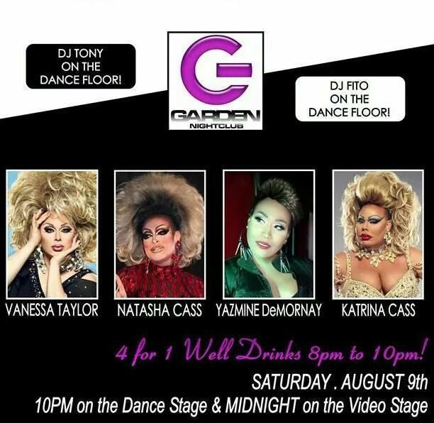 Show Ad | Garden Nightclub (Des Moines, Iowa) | 8/9/2014