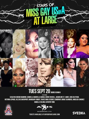 Show Ad   Stars of Miss Gay USofA at Large   Axis Night Club (Columbus, Ohio)   9/20/2016