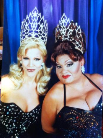 Danielle Hunter and Carmella Marcella Garcia. Circa 1999 when Danielle was reigning Miss Florida F.I. and Carmella was reigning Miss Florida F.I. at Large.