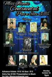Show Ad | Illinois Continental Pageantry | Baton Show Lounge (Chicago, Illinois) | 10/26/2015