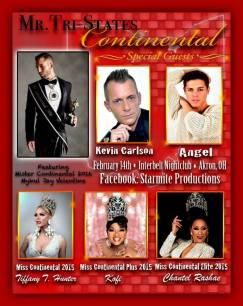 Show Ad | Mr. Tri-State Continental | Interbelt Nite Club (Akron, Ohio) | 2/14/2016