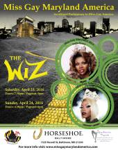 Show Ad | Miss Gay Maryland America | Horseshoe (Baltimore, Maryland) | 4/23-4/24/2016