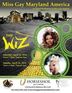Show Ad | Miss Gay Maryland America | Horseshoe (Baltimore, Maryland) | 4/23-4/24/2016