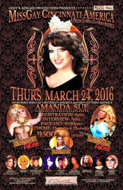 Show Ad   Miss Gay Cincinnati America   Cabaret (Cincinnati, Ohio)   3/24/2016