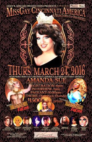 Show Ad | Miss Gay Cincinnati America | Cabaret (Cincinnati, Ohio) | 3/24/2016