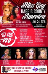 Show Ad | Miss Gay Harris County America | Neon Boots (Houston, Texas) | 1/24/2016