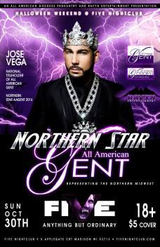 Show Ad | Northern Star All American Gent | Five Nightclub (Madison, Wisconsin) | 10/30/2016