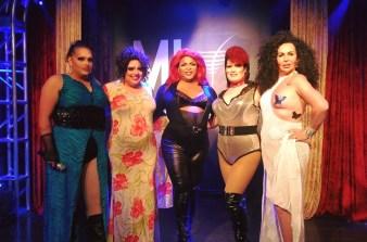 Scarlett Fever, TIna Hightower, Daray Lorez, Saphyre Rayhne and Racine Alexander at MJ's on Jefferson (Dayton, Ohio). July 2016.
