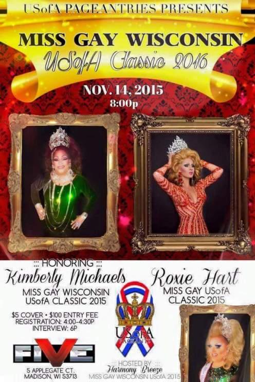 Show Ad | Miss Gay Wisconsin USofA Classic | Five Nightclub (Madison, Wisconsin) | 11/14/2015