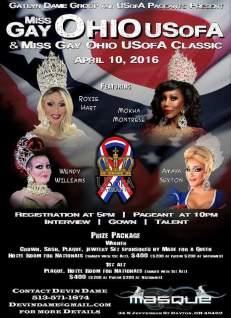 Show Ad | Miss Gay Ohio USofA & Classic | Masque (Dayton, Ohio) | 4/10/2016