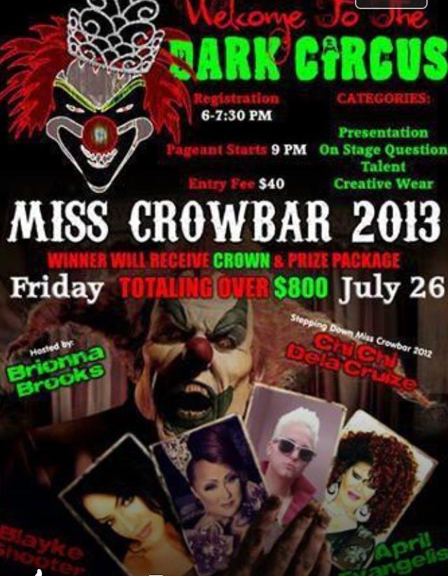 Show Ad   Miss Crowbar   Crowbar (Sandusky, Ohio)   7/26/2013