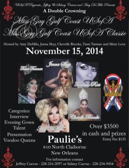 Show Ad | Miss Gay Gulf Coast USofA and Classic | Paulie's (New Orleans, Louisiana) | 11/15/2014