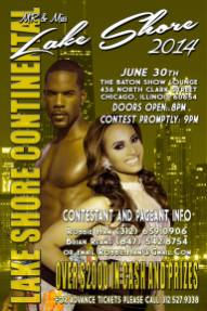 Show Ad | Mr. and Miss Lake Shore Continental | The Baton Show Lounge (Chicago, Illinois) | 6/30/2014