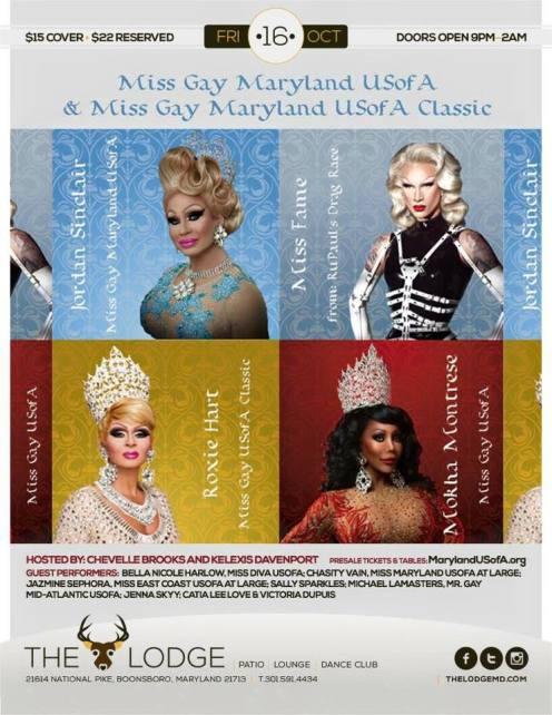 Show Ad | Miss Gay Maryland USofA and Classic | The Lodge (Boonsboro, Maryland) | 10/16/2015