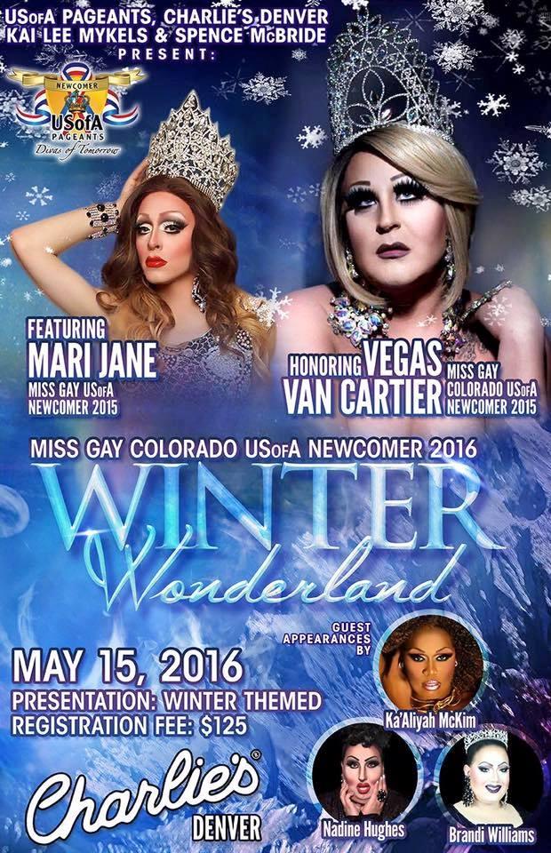 Show Ad | Miss Gay Colorado USofA Newcomer | Charlie's (Denver, Colorado) | 5/15/2016