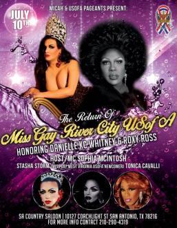 Show Ad | Miss Gay River City USofA | SA Country Saloon (San Antonio, Texas) | 7/10/2016
