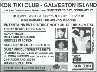 Show Ad   Kon Tiki Club (Galveston Island, Texas)   2/17-2/24/1995