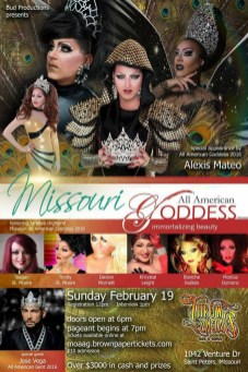 Show Ad | Missouri All American Goddess | Throw Backs (Saint Peters, Missouri) | 2/19/2017