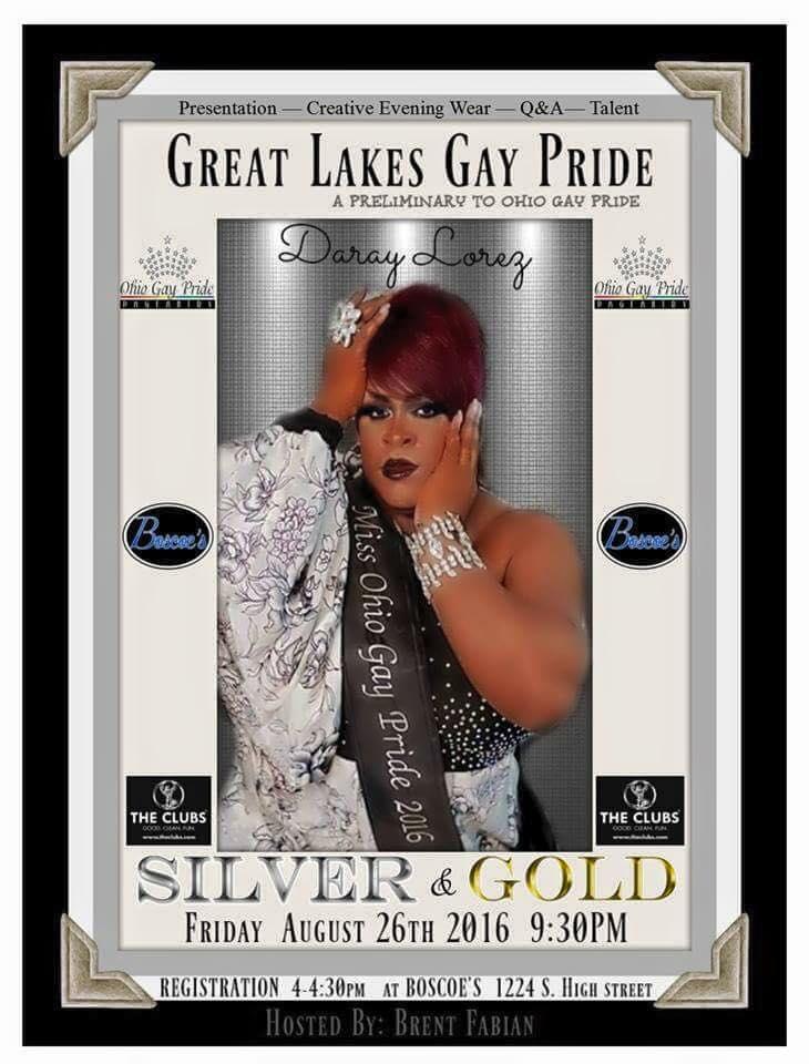 Show Ad | Miss Great Lakes Gay Pride | Boscoe's (Columbus, Ohio) | 8/26/2016