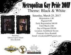Show Ad   Metropolitan Gay Pride   Southbend Tavern (Columbus, Ohio)   3/25/2017
