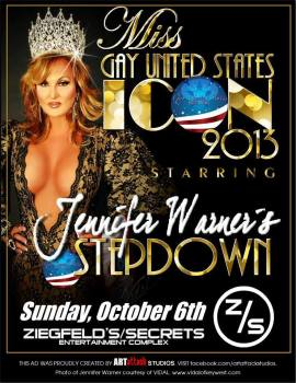 Show Ad | Miss Gay United States Icon | Ziegfeld's (Washington, DC) | 10/6/2013