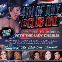 Show Ad | Club One (Savannah, Georgia) | 7/4/2015
