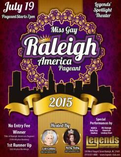 Show Ad | Miss Gay Raleigh America | Legends Nightclub Complex (Raleigh, North Carolina) | 7/19/2015