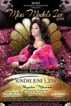 Show Ad | Miss Models Inc | Chrysler Museum - Kaufman Theater (Norfolk, Virginia) | 6/5/2016