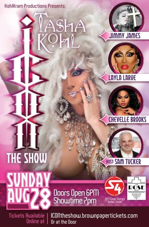 Show Ad | The Icon Show | The Rose Room (Dallas, Texas) | 8/28/2016