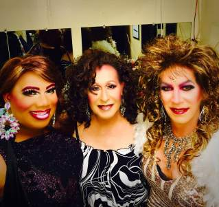 Vee Love, Darah Landon and Cher Andrea in dressing room of Southbend Tavern (Columbus, Ohio).
