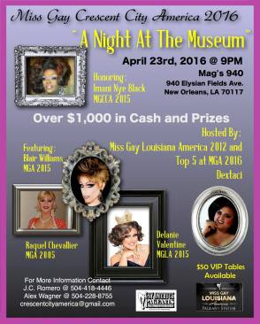 Show Ad   Miss Gay Crescent City America   Mag's 940 (New Orleans, Louisiana)   4/23/2016