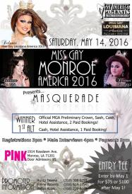 Show Ad | Miss Gay Monroe America | Pink (Monroe, Louisiana) | 5/14/2016