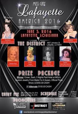 Show Ad | Miss Gay Lafayette America | The District (Lafayette, Ohio) | 6/5/2016