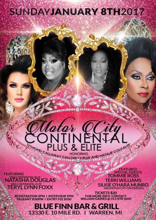 Show Ad   Miss Motor City Continental Plus & Elite   Blue Finn Bar & Grill (Warren, Michigan)   1/8/2017