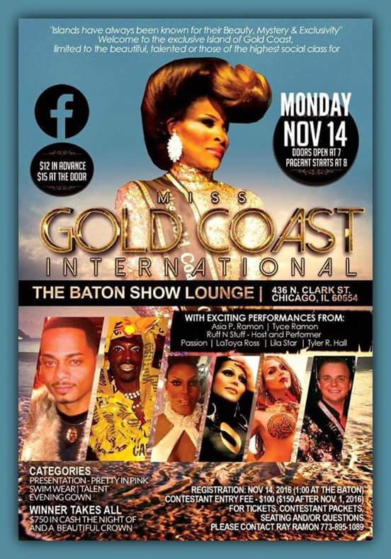 Show Ad | Miss Gold Coast International | The Baton Show Lounge (Chicago, Illinois) | 11/14/2016