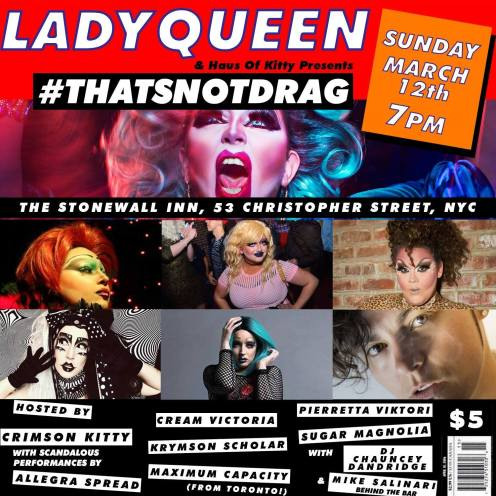 Show Ad | The Stonewall Inn (New York, New York) | 3/12/2017