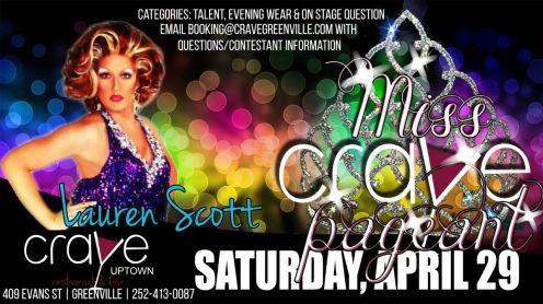 Show Ad | Miss Crave | Crave (Greenville, North Carolina) | 4/29/2017