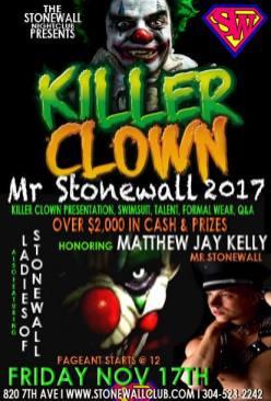 Show Ad | Mr. Stonewall 2017 | Stonewall Club (Huntington, West Virginia) | 11/17/2017