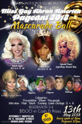 Show Ad | Miss Gay Akron America | Interbelt Nite Club (Akron, Ohio) | 5/13/2018