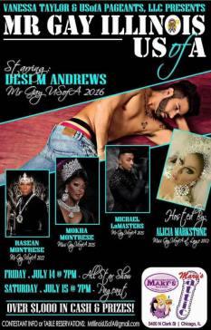 Show Ad   Mr. Gay Illinois USofA   Hamburger Mary's and Mary's Attic (Chicago, Illinois)   7/14-7/15/2017